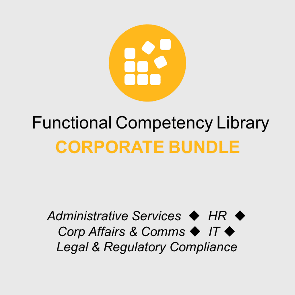 Thumbnail image for Functional Competency Libraries - Corporate Bundle