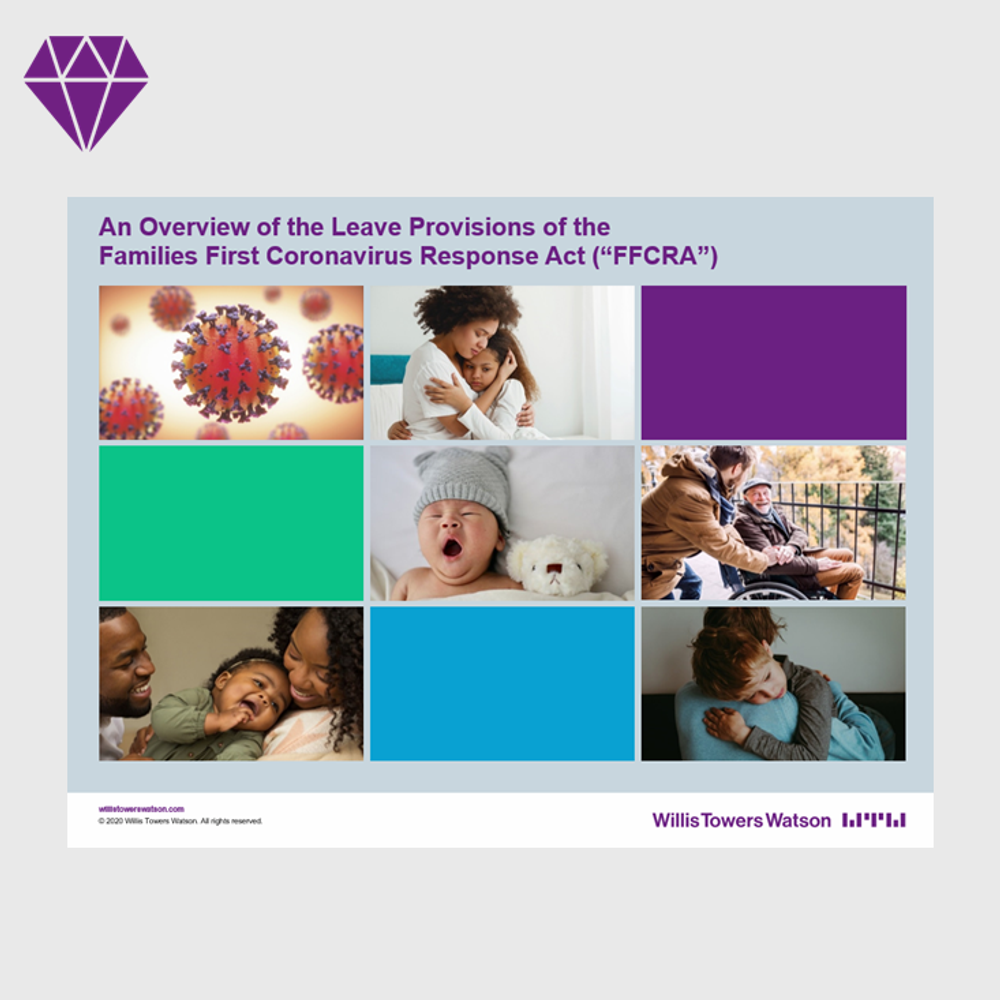 Overview of Leave Provisions Families First Coronavirus Response Act (FFCRA )