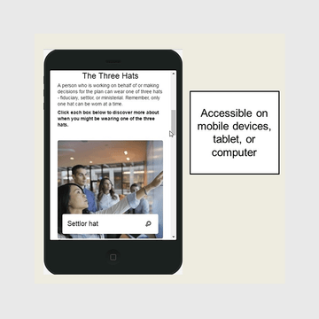 Thumbnail image for Fiduciary Training is accessible on mobile devices, tablet, and computer