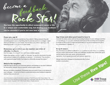 Become a Feedback Rock Star Handout ― Performance Feedback for Managers Tool watermarked image