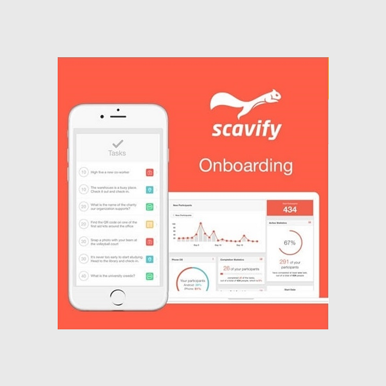 Primary thumbnail image for Scavify Interactive Onboarding App