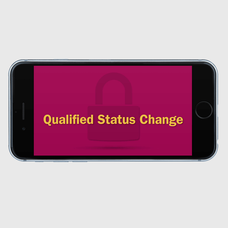 Primary thumbnail image for video Qualified Status Changes  https://videos.sproutvideo.com/embed/709adeb11b19e4c3f8/1cf8b7f3b685ceec