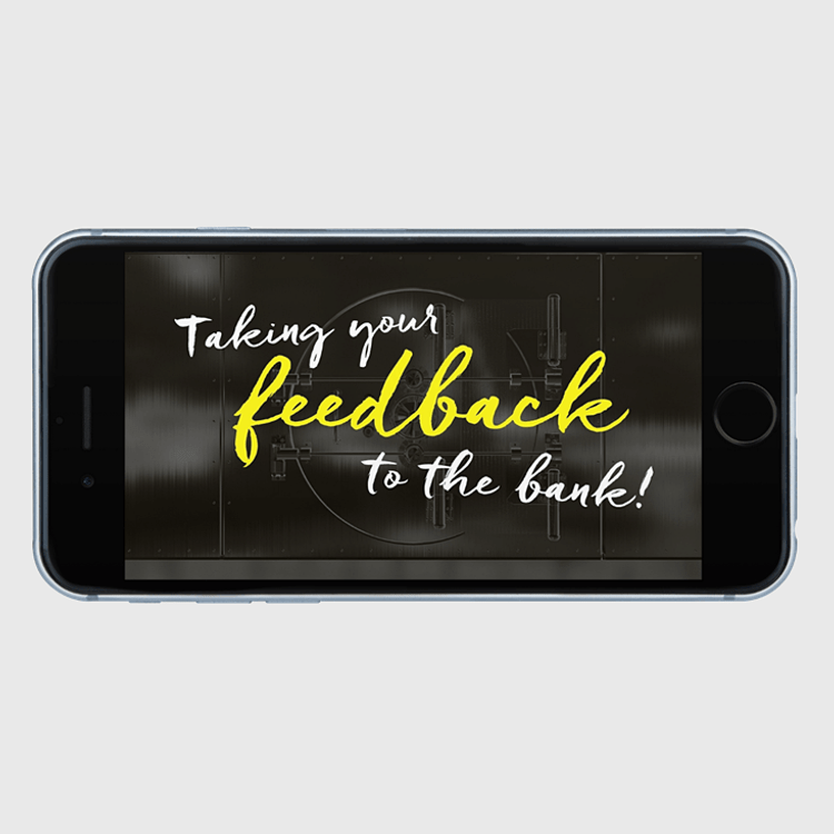 Primary thumbnail image for video Taking Your Feedback to the Bank  https://videos.sproutvideo.com/embed/709adeb11b16eec6f8/855ea64b1e943201