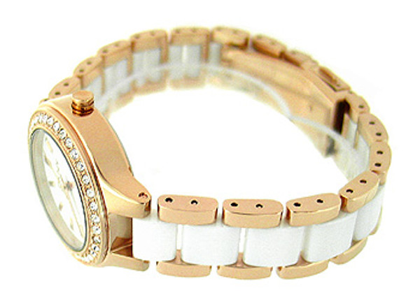 DKNY Crystal Ceramic Bracelet 50M Ladies Watch NY8141