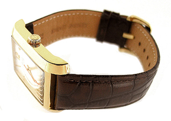 Esq Movado Brown Leather Mens Watch 07301420