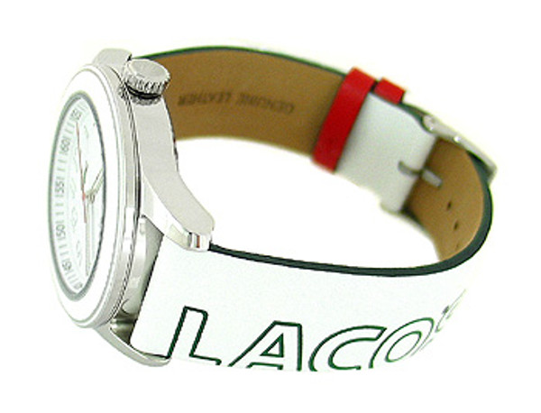 Lacoste White Leather Band 50M Ladies Watch 2000518