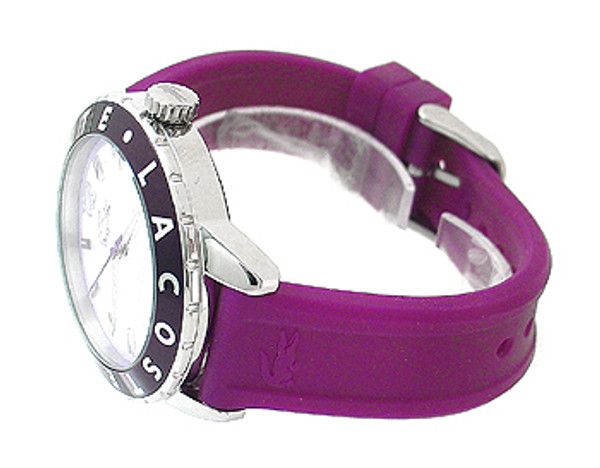 Lacoste Purple Silicone Strap 50M Ladies Watch 2000661