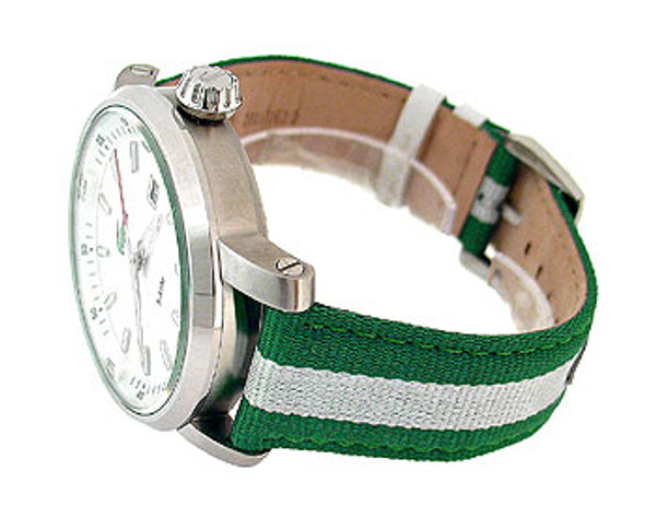 Lacoste Two Tone Leather Date 50M Mens Watch 2010340