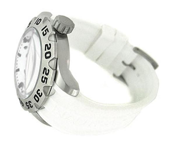 Nautica Date White Resin Strap 100M Mens Watch N14608G