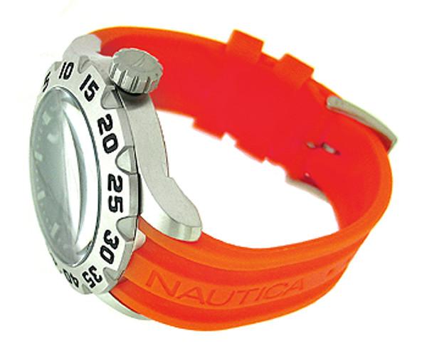 Nautica Orange Resin Strap 100M Mens Watch N14603G