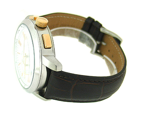 Nautica Chronograph Leather 100M Mens Watch N19574G