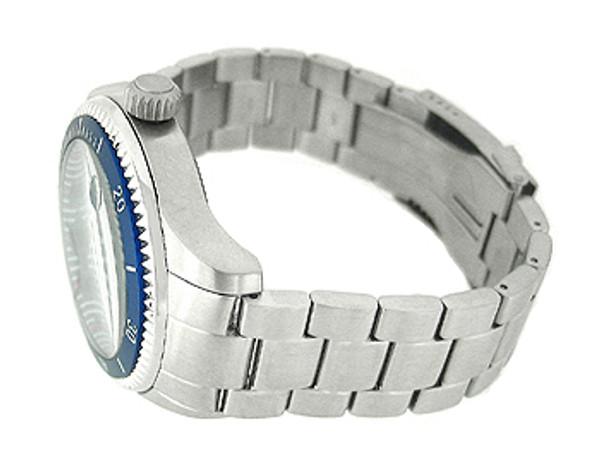 Nautica Date Silver Bracelet 100M Mens Watch N14560G