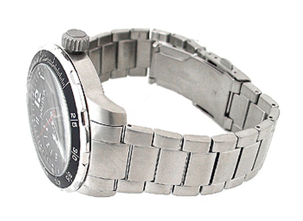 Nautica Day And Date Silver 100M Mens Watch N16548G