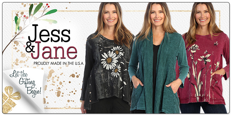 Jess & Jane Mineral Washed Tops