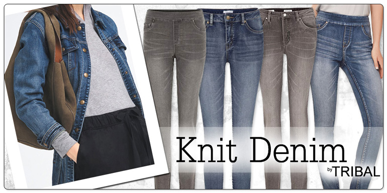 Tribal Knit Denim