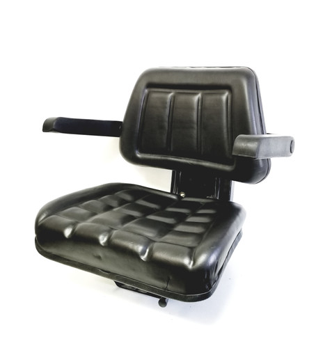 UNIVERSAL TRACTOR SEAT  WITH  ARM REST  BLACK