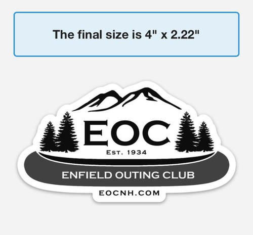 EOC Solid Die Cut Bumper Sticker