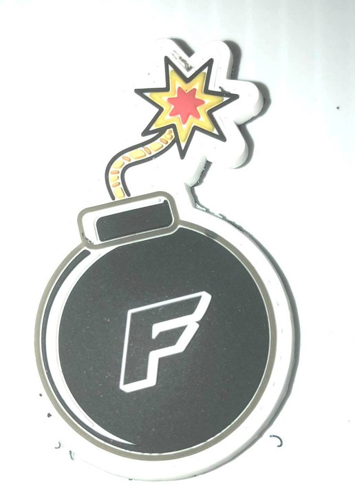 TUFF F Bomb PVC Patch Glow In the Dark