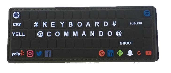 KeyBoard Commando PVC Patch
