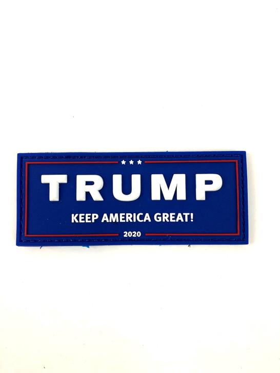 "Trump KAG Glow in the Dark PVC Velcro Patch 4""x 1.5"""