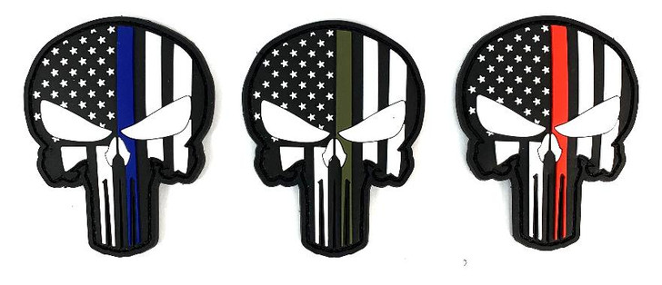 "Patch PVC Punisher Glow in the Dark- 3""x2.5"""