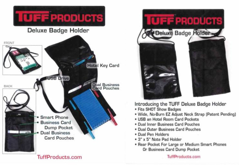 Deluxe Badge Holders - Fits SHOT SHOW Badges