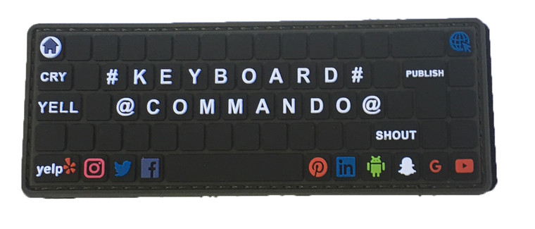 KeyBoard Commando PVC Patch