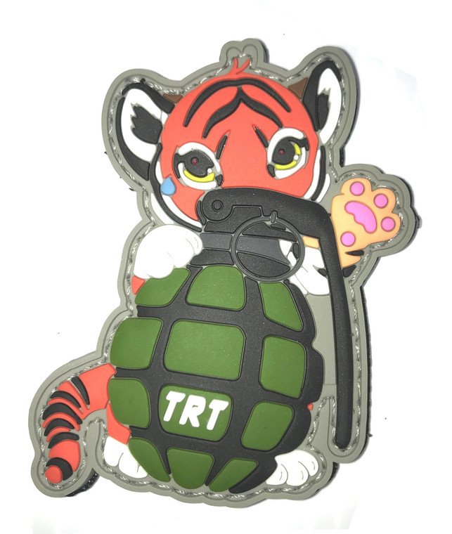 "Tactical Baby Tiger Glow PVC Patch with Velcro 3""Tall x 2"" wide"