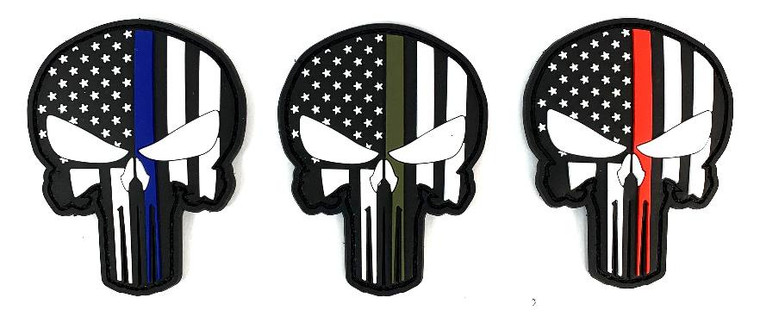 "Patch PVC Punisher Glow in the Dark- 3""x2.5"""