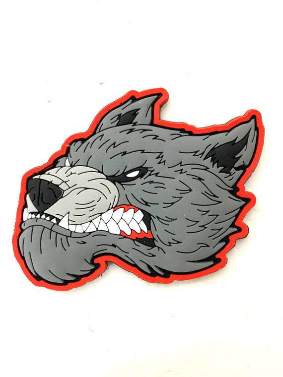 "Wolf PVC Glow in the Dark Features Patch 3""x2.5"""
