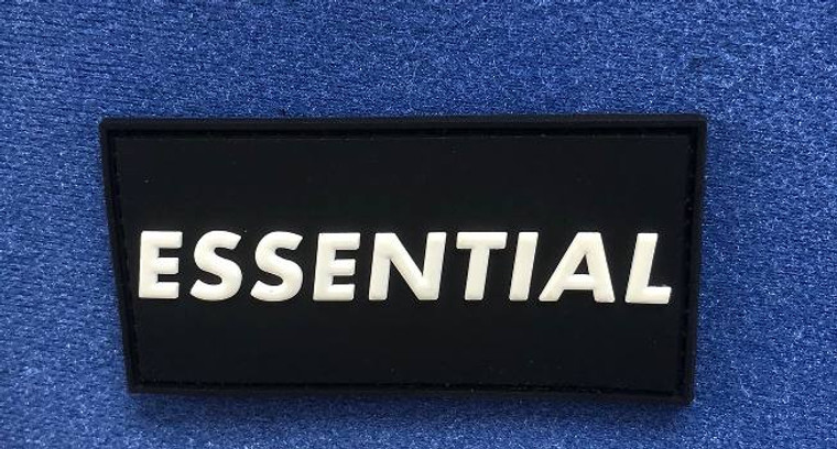 "Essential Patch- 3"" x 1.5"" of Glow in the Dark Proof you are Essential"