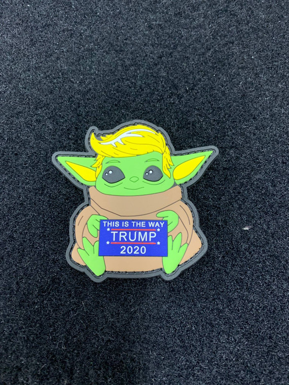 "Trump- This is the way PVC Patch 3""x3"" Glow in the dark"