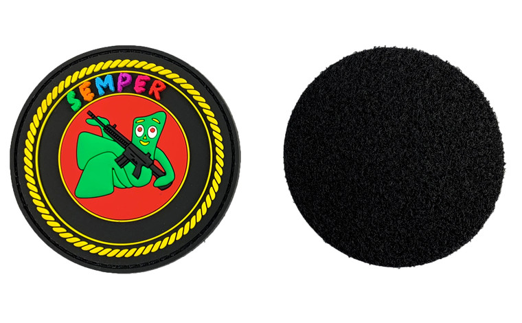 "Patch 3"" Semper Gumby PVC Patch"