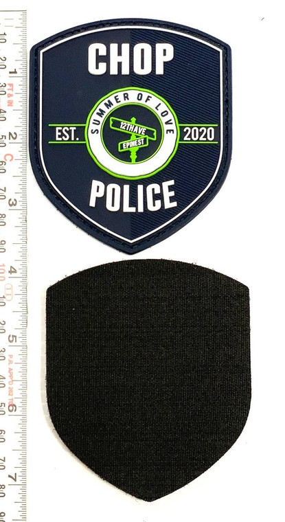 "CHOP  Police Department Patch -Glow in the Dark 3.5""x3"" Summer of Love"