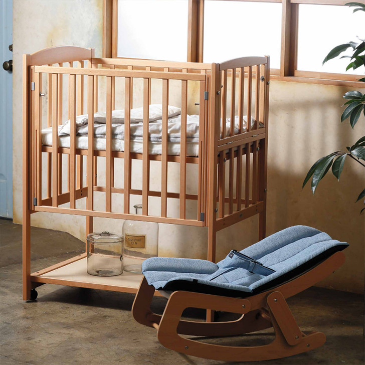 Mini Baby Bed (High Type) - Natural