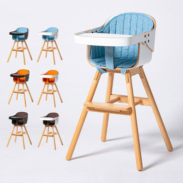 Cozy Wooden Baby High Chair