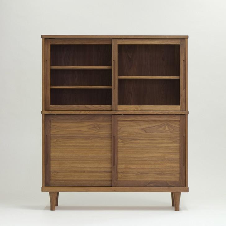 Fennel Glass Cabinet - Walnut