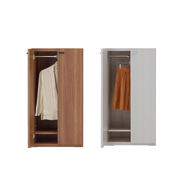Funamoco Living Shelf Clothes Hanger Cabinet