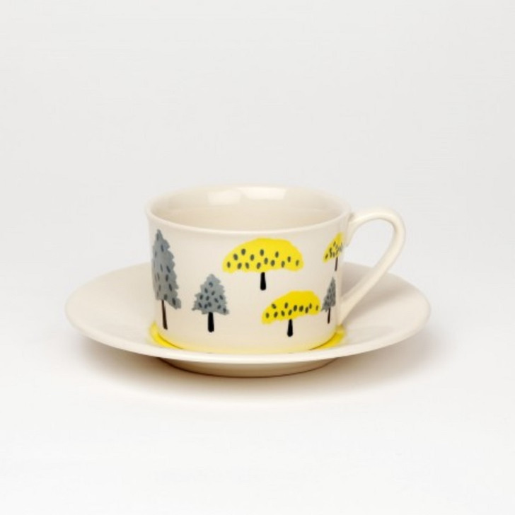 Clement Hand Painted Ceramic Cup & Saucer