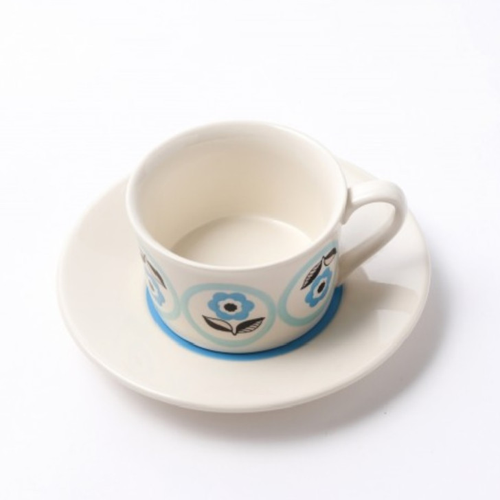 Linne Hand Painted Ceramic Cup & Saucer