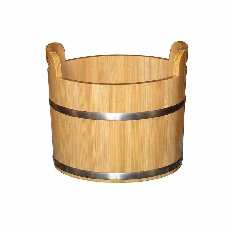 Sawara Double-Handle Foot Bath Pail (Clear Paint)