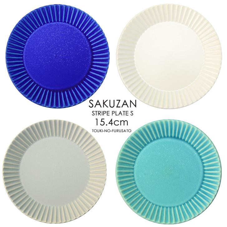 SAKUZAN Stripe Round Plate S