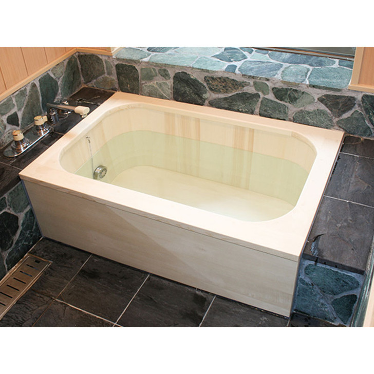 SHIMIZU Wooden Bath - Rounded Corners Box Deluxe Type