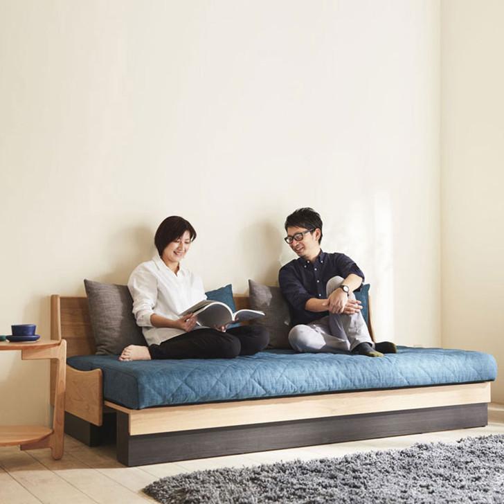 Meuble Dorothy Sofa Bed Natural (Frame) × Blue (Fabric)