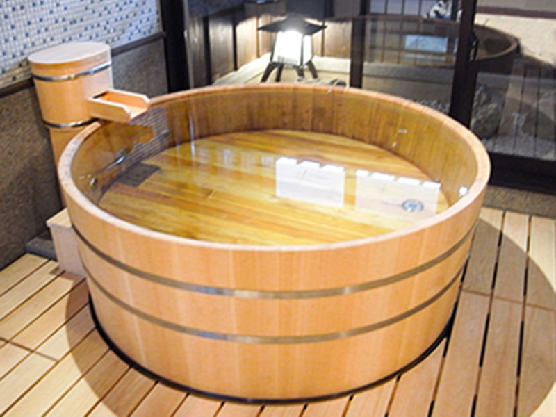 Barrel Type Wooden Bath / Hinoki Bath