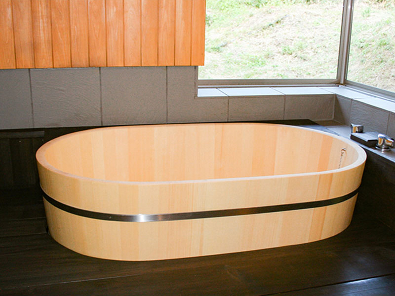 Ovular Type Wooden Bath / Hinoki Bath