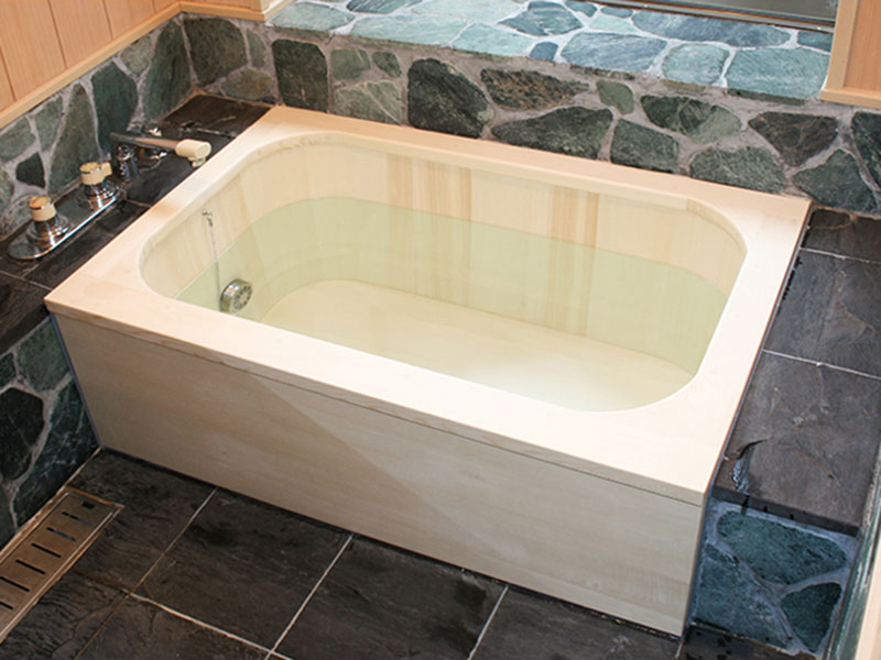 Rounded Corners Box Deluxe Type Wooden Bath/ Hinoki Bath