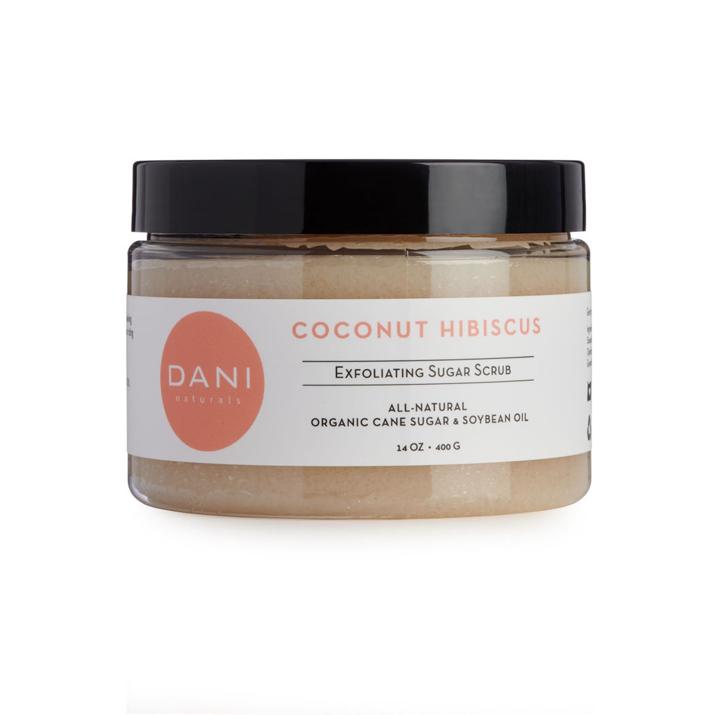 Coconut Hibiscus Body Scrub with Organic Sugar by DANI Naturals