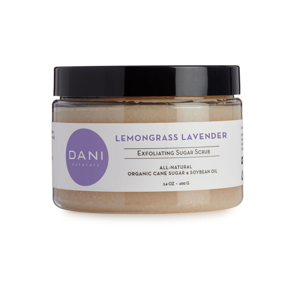 Lemongrass Lavender Body Scrub with Organic Sugar by DANI Naturals
