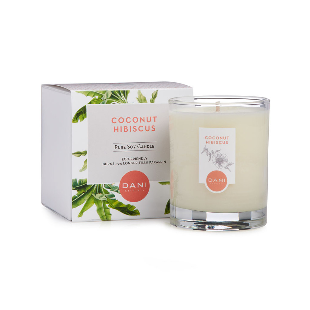 Coconut Hibiscus Scented Soy Candle by DANI Naturals